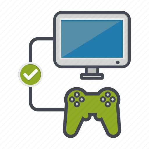 check, computer, controller, desktop, joystick, monitor, screen icon