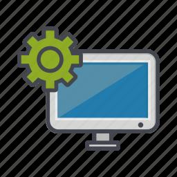 computer, desktop, monitor, option, screen, setting icon