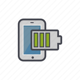 battery, device, full, phone, smartphone icon