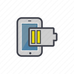 battery, device, low, phone, smartphone icon
