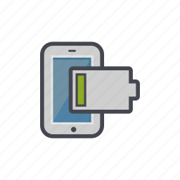 battery, device, empty, low, phone, smartphone icon
