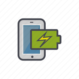 battery, charged, device, full, phone, smartphone icon