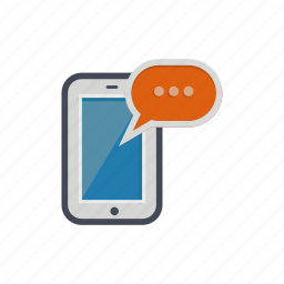 bubble, chat, comment, device, phone, smartphone icon