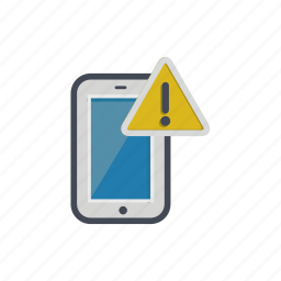 alert, device, phone, smartphone, warning icon