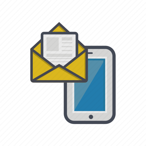 device, letter, message, phone, smartphone icon