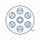entertainment, film, film roll, multimedia, roll, video icon