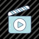 clipper, entertainment, movie, movie clipper, multimedia, video icon