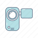 camera, entertainment, handy cam, media, multimedia, video icon