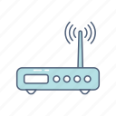 entertainment, internet, modem, multimedia, router, wireless icon
