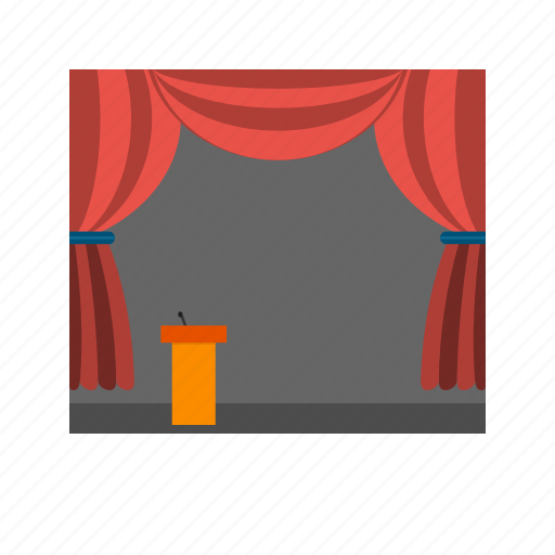 background, design, event, lights, show, stage, stand icon