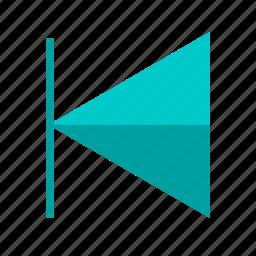 arrow, back, click button, control, media, player, track icon