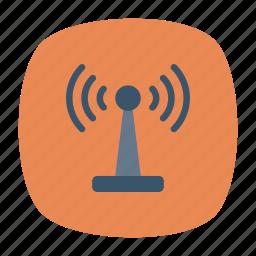 antenna, signal, tower, wireless icon