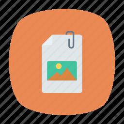 attach, attachment, clip, file icon