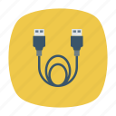 cable, connector, extension, usb icon