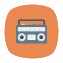cassette, media, music, tape icon
