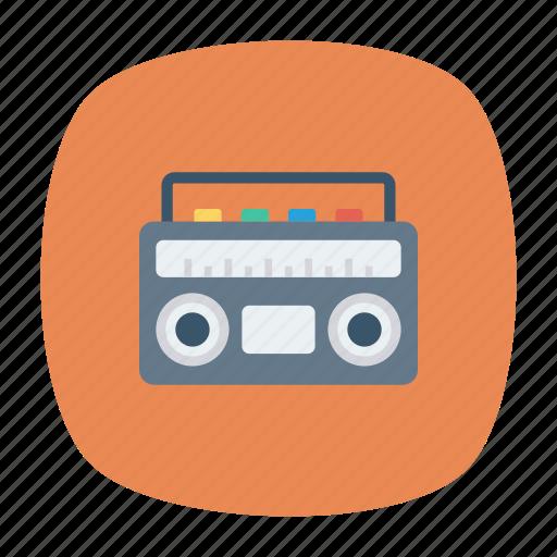 cassette, media, music, tape icon