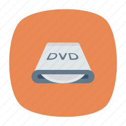cd, disk, dvd, room icon