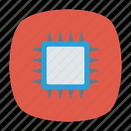 chip, cpu, hardware, processor icon