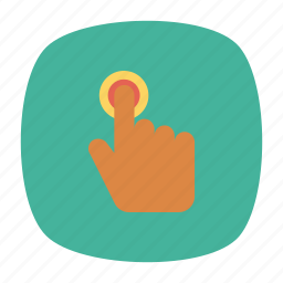 click, hand, tap, touch icon