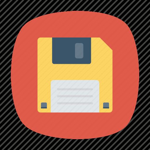 disk, diskette, floppy, save icon