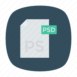 document, extention, file, psd icon