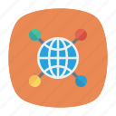 connect, earth, globe, world icon