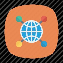 connect, earth, globe, world icon