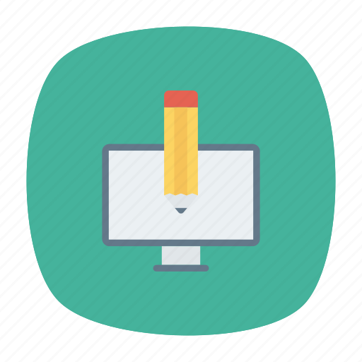 edit, pen, screen, write icon