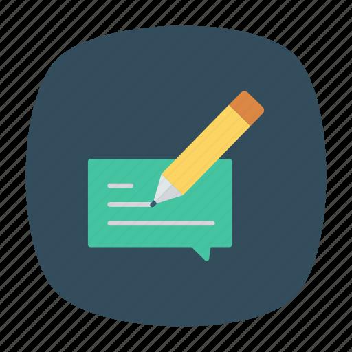 edit, message, pen, write icon