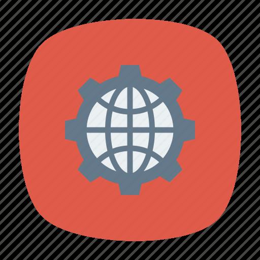 earth, global, setting, world icon