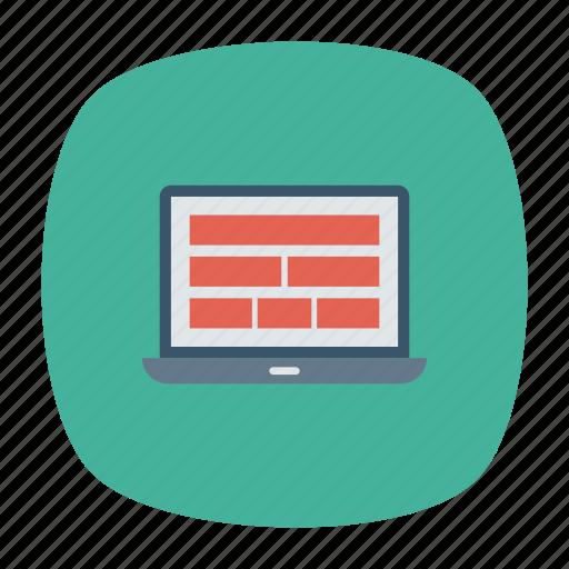 gadget, laptop, responsive, technology icon