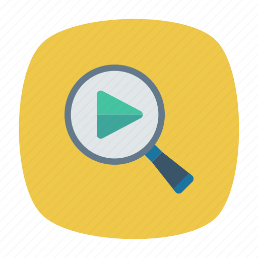 magnifier, play, search, zoom icon