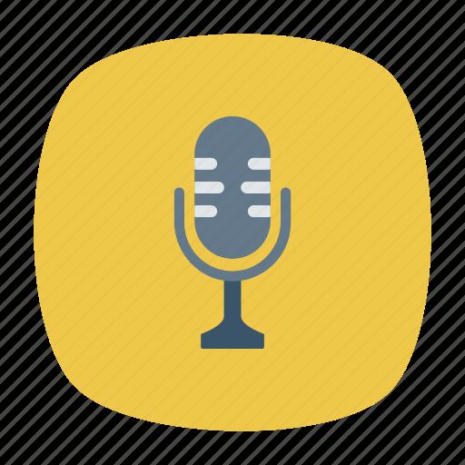 audio, mic, microphone, recorder icon