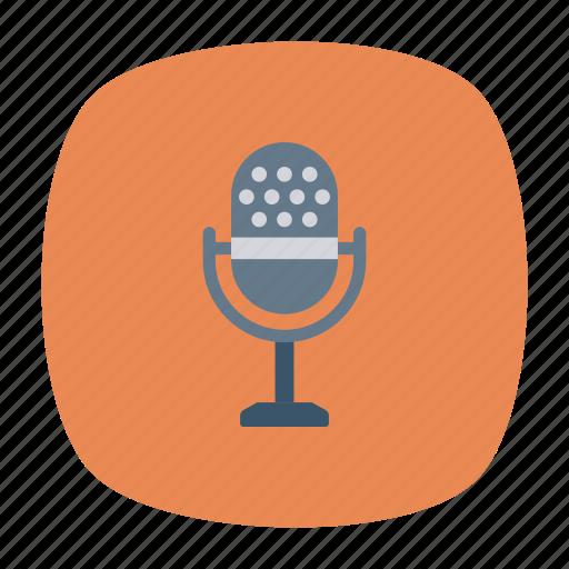 mic, mike, recorder, speaker icon