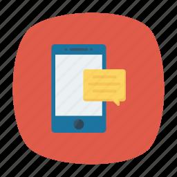 bubble, comment, message, mobile icon