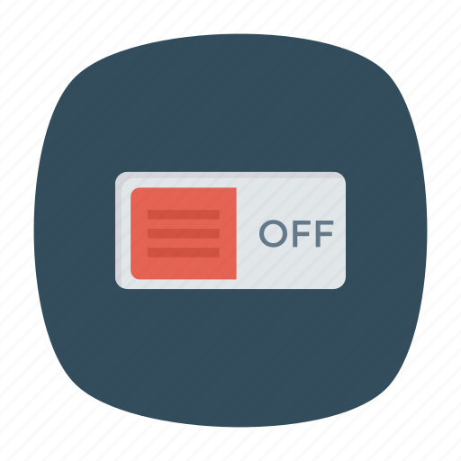off, switch, toggle icon