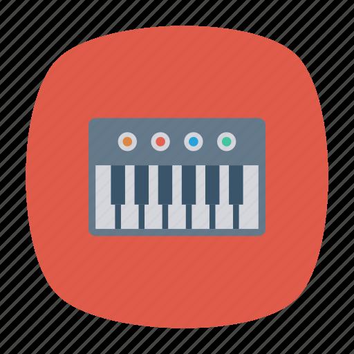 instrument, music, piano, pianokey icon