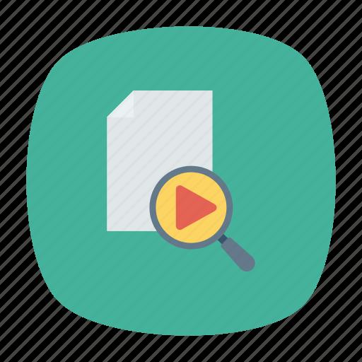 document, file, magnifer, search icon