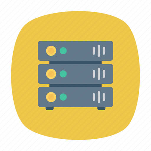 hardware, mainframe, server, storage icon