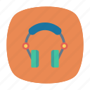 headphone, headset, listen, support icon