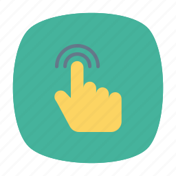 click, swipe, tap, touch icon