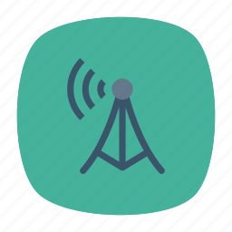 antenna, signal, tower, wireless icon