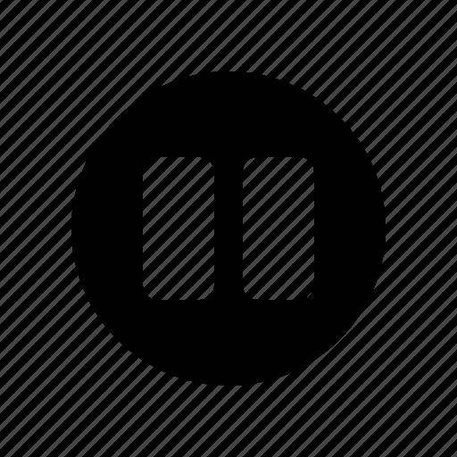 circle, media, multimedia, pause icon
