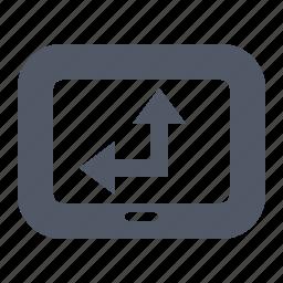 arrow, direction, display, gps, navigation icon