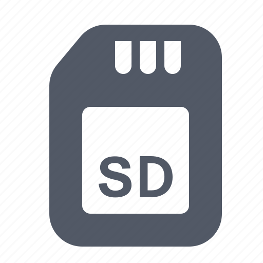 card, data, drive, memory, sd, solid, storage icon