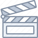 action, film, movie, multimedia, scene icon