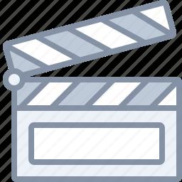 action, film, movie, multimedia, scene icon