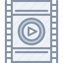 film, movie, multimedia, play, strip icon