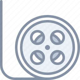 film, movie, multimedia, strip icon