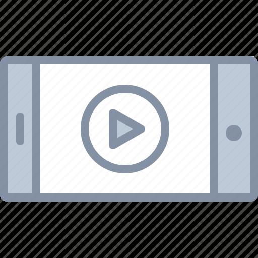 audio, mobile, multimedia, phone, play, telephone, video icon